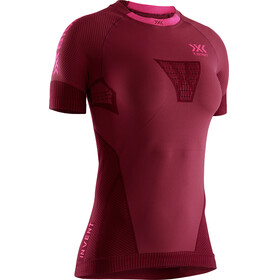 X-Bionic Invent 4.0 Run Speed Koszulka do biegania z krótkim rękawem Kobiety czerwony